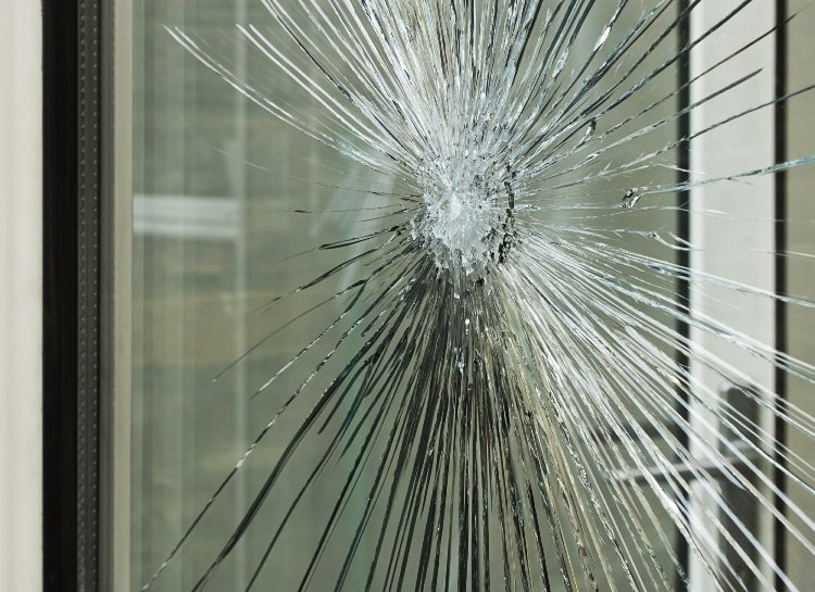 Cracked Double Glazed Window